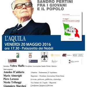 Manifesto L'Aquila 20 maggio 2016